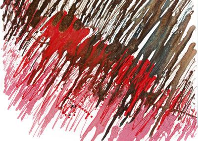Corrispondenze, 2016, smalto su tela, 70 x 70 cm