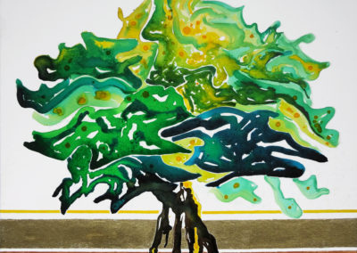 Soffia il vento, 2016, tecnica mista su cartone telato, 50 x 60 cm