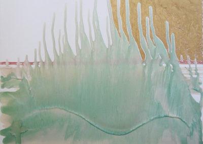 Trasparenze, 2017, smalto su tela, 70 x 70 cm