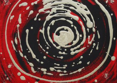 Vortice, 2016, tecnica mista su cartone telato, 40 x 50 cm
