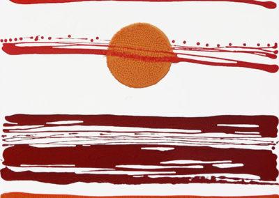 Astro-sospeso,-2018,-smalto-su-tela,-70-x-70-cm