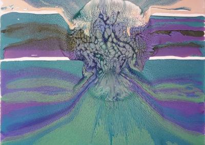 Eruzione-marina,-2018,-smalto-su-tela,-80-x-80-cm